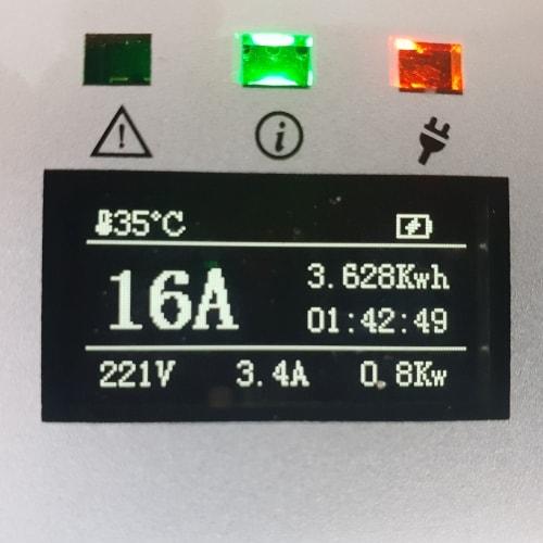 3-EV EVSE Typ 2 (max. 16A) Laddkabel med kontrollbox