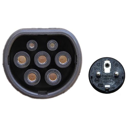 5-EV EVSE Typ 2 (max. 16A) Laddkabel med kontrollbox