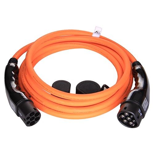 1-EV Typ 2 -> Typ 2 orange (3x32A) Laddkabel