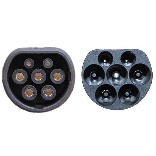 4-EV Typ 2 -> Typ 2 spiral (3x32A) Laddkabel